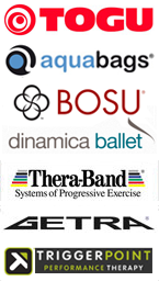 Togu Aquabags Bosu Thera Band Dinamica Ballet Trigger Point Reebok